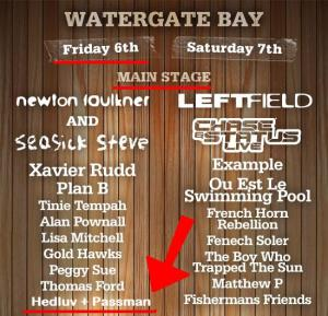 Hedluv + Passman alongside Tinie Tempah and Plan B at Boardmasters in 2010